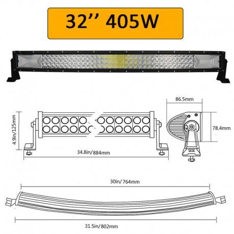 7D LED BAR 405W 80cm juosta