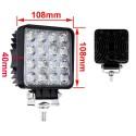 Kvadratinis LED žibintas 48W plonesnis