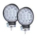 Apvalūs LED žibintai 42W ploni 2vnt.