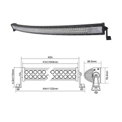 7D LED BAR 540W lenkta juosta